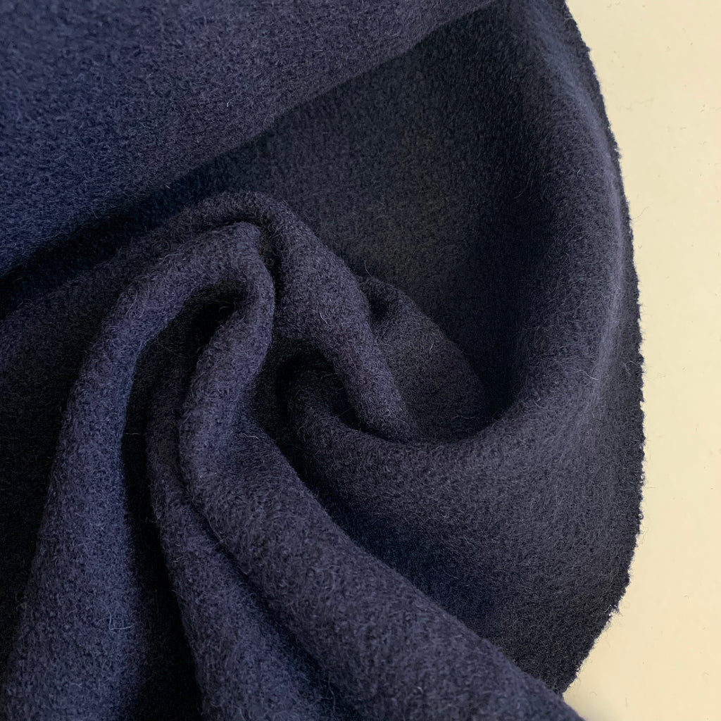 Boiled Wool - 100% wool, Navy