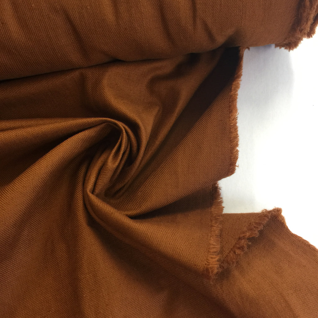 75% cotton 25% linen Japanese Textured Twill - Chestnut