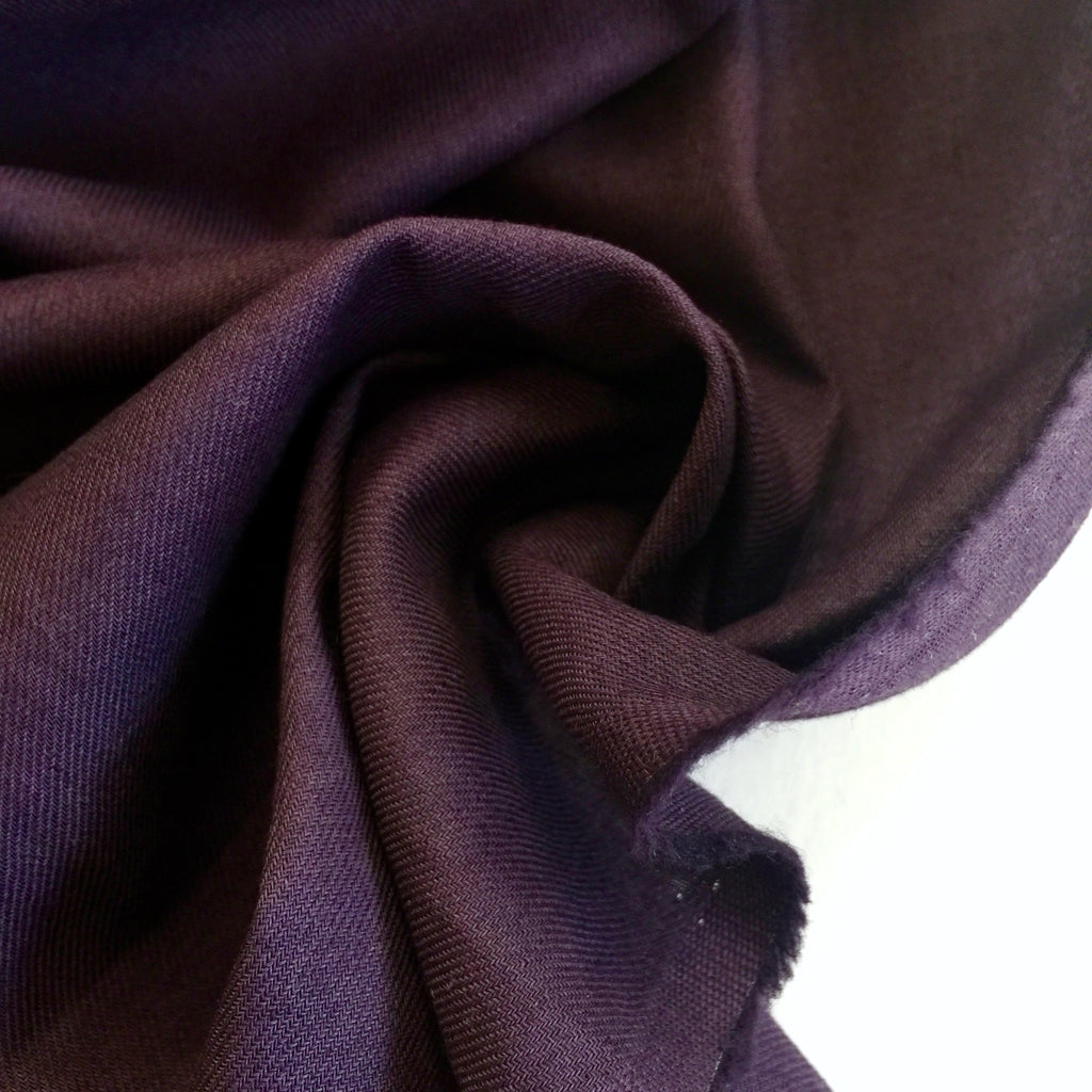 70% cotton 30% linen shirting-weight Japanese twill - Eggplant