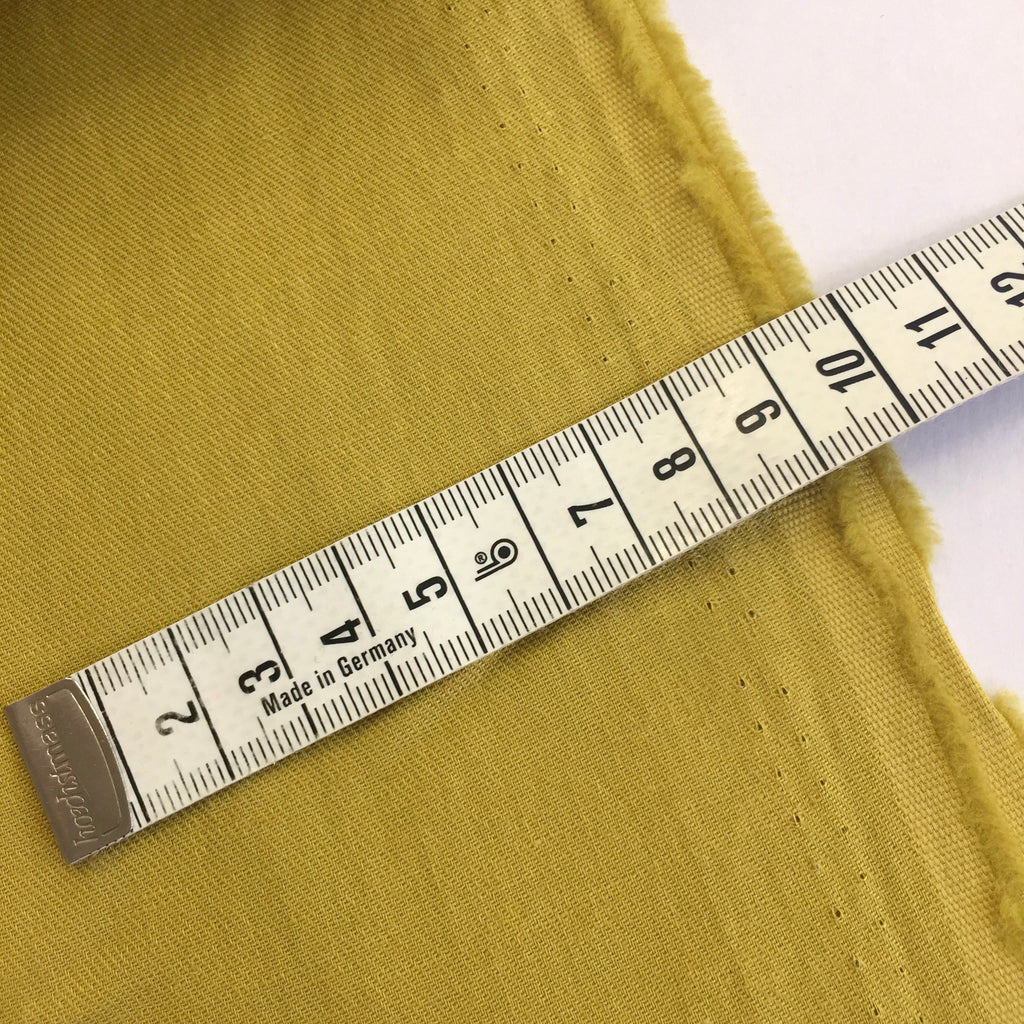 70% cotton 30% linen shirting-weight Japanese twill - Faded Sunflower