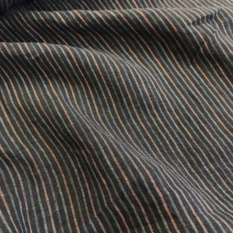 100% Linen, washed/softened, stripe - 'Gregory Peck'