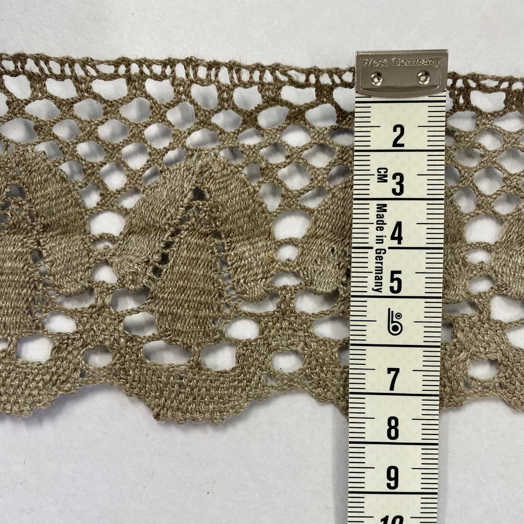 100% Linen Lace, made in Lithuania - Natural, 8cm wide