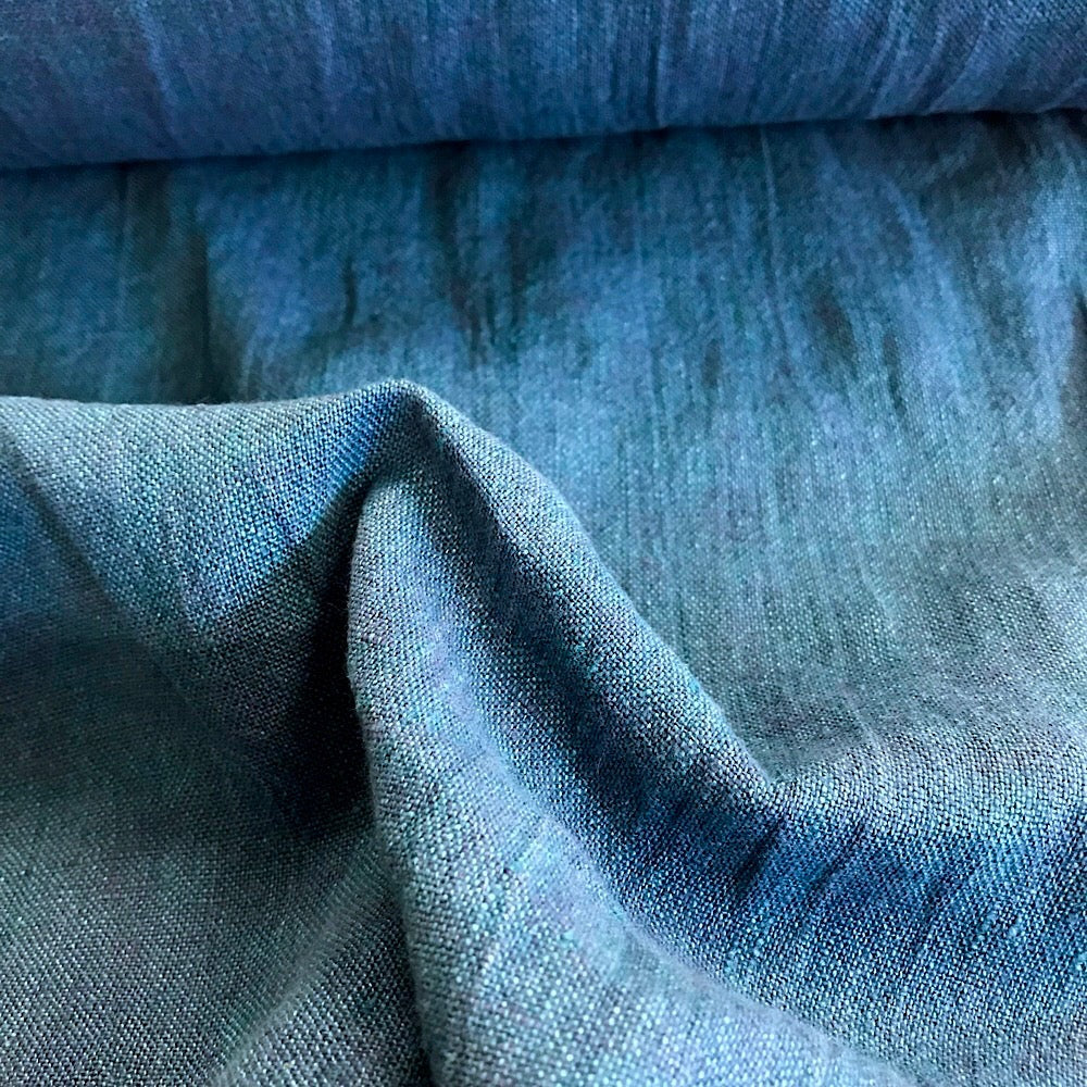 100% Linen, washed/softened - 'Ocean'