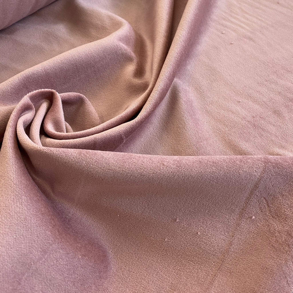 100% Cotton Velveteen - Cherub (dusty pink)