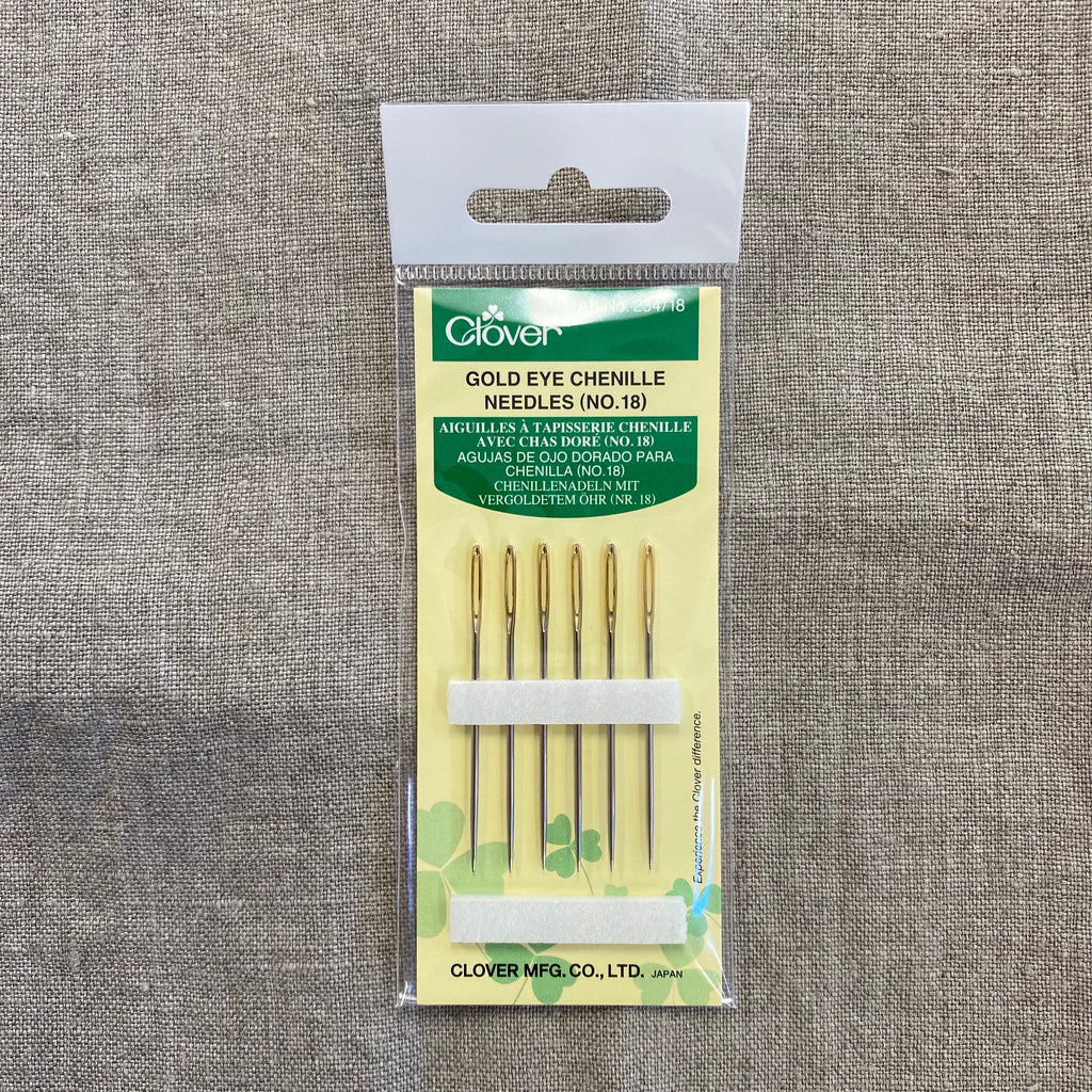 Clover Gold Eye Chenille Needles (No. 18)