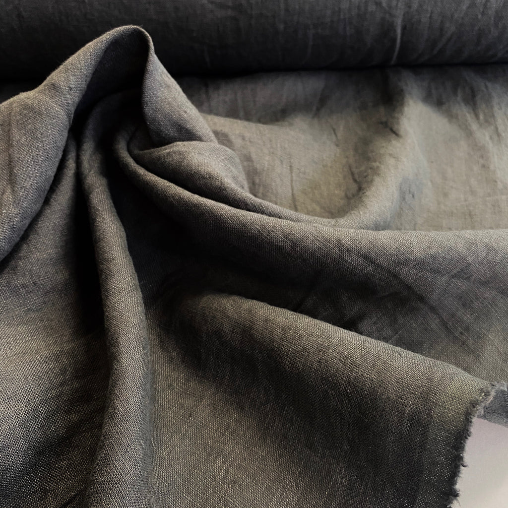 100% linen, washed/softened - Slate