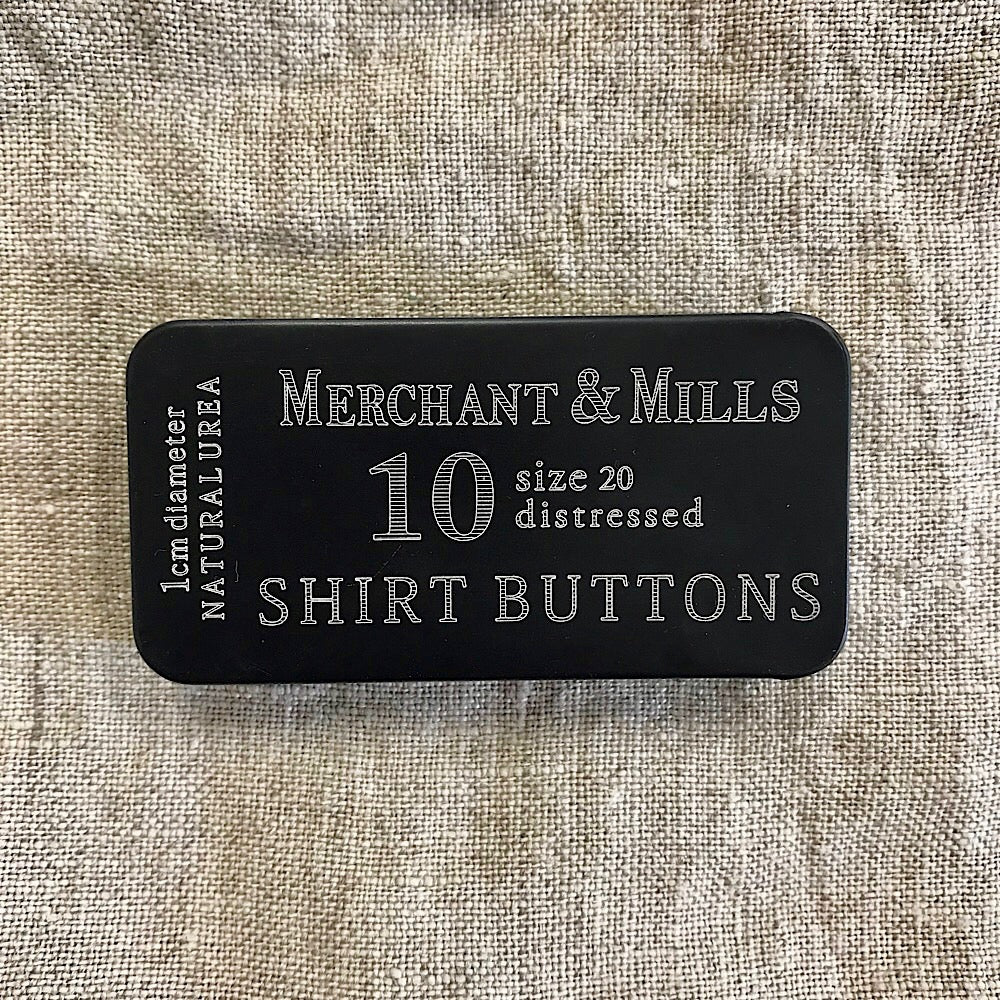 Tin of Shirt Buttons - Merchant and Mills - grey/brown