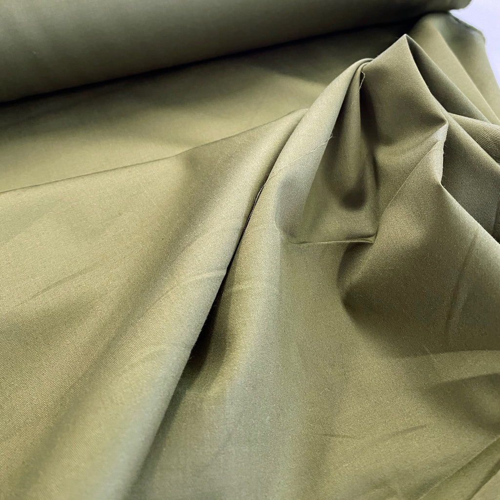 100% cotton sateen, made in Japan - Pickle