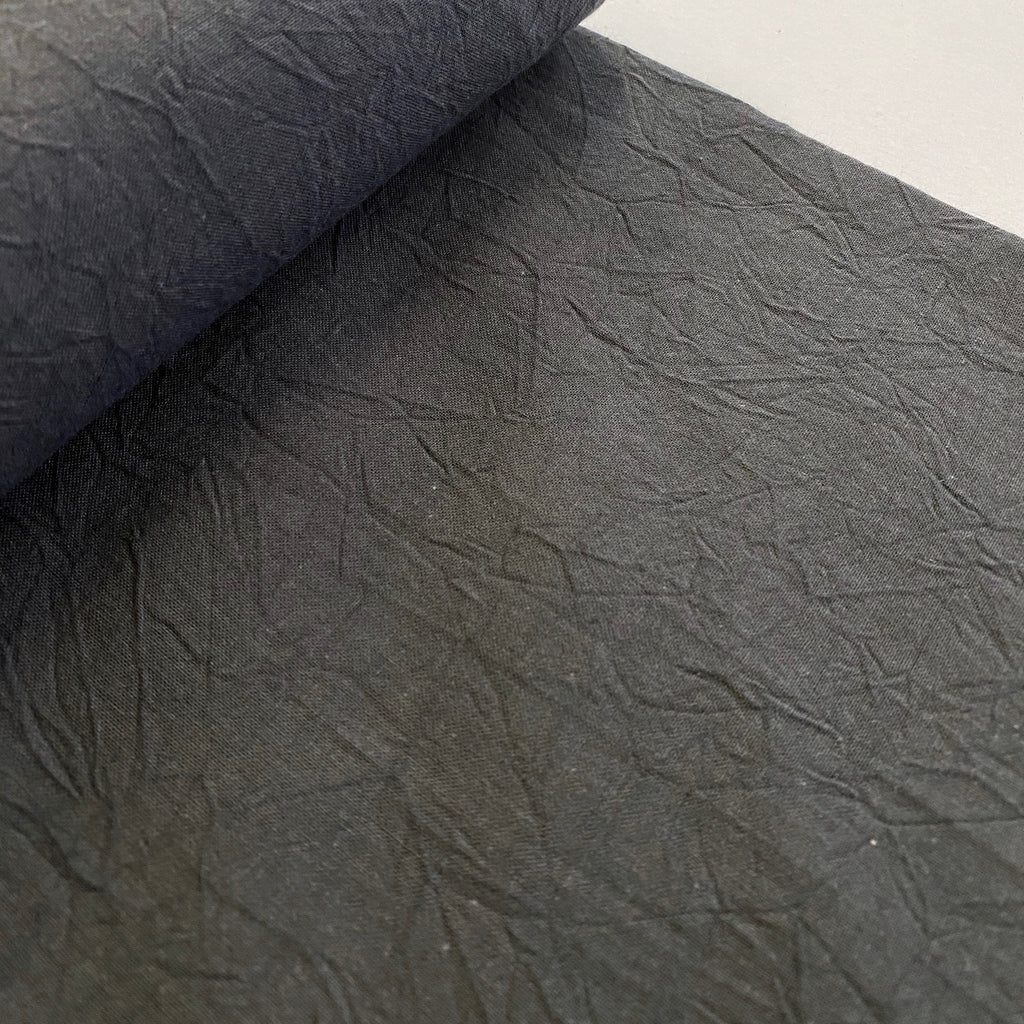 100% Cotton, Crumpled Texture Shirting - 'Zinc'