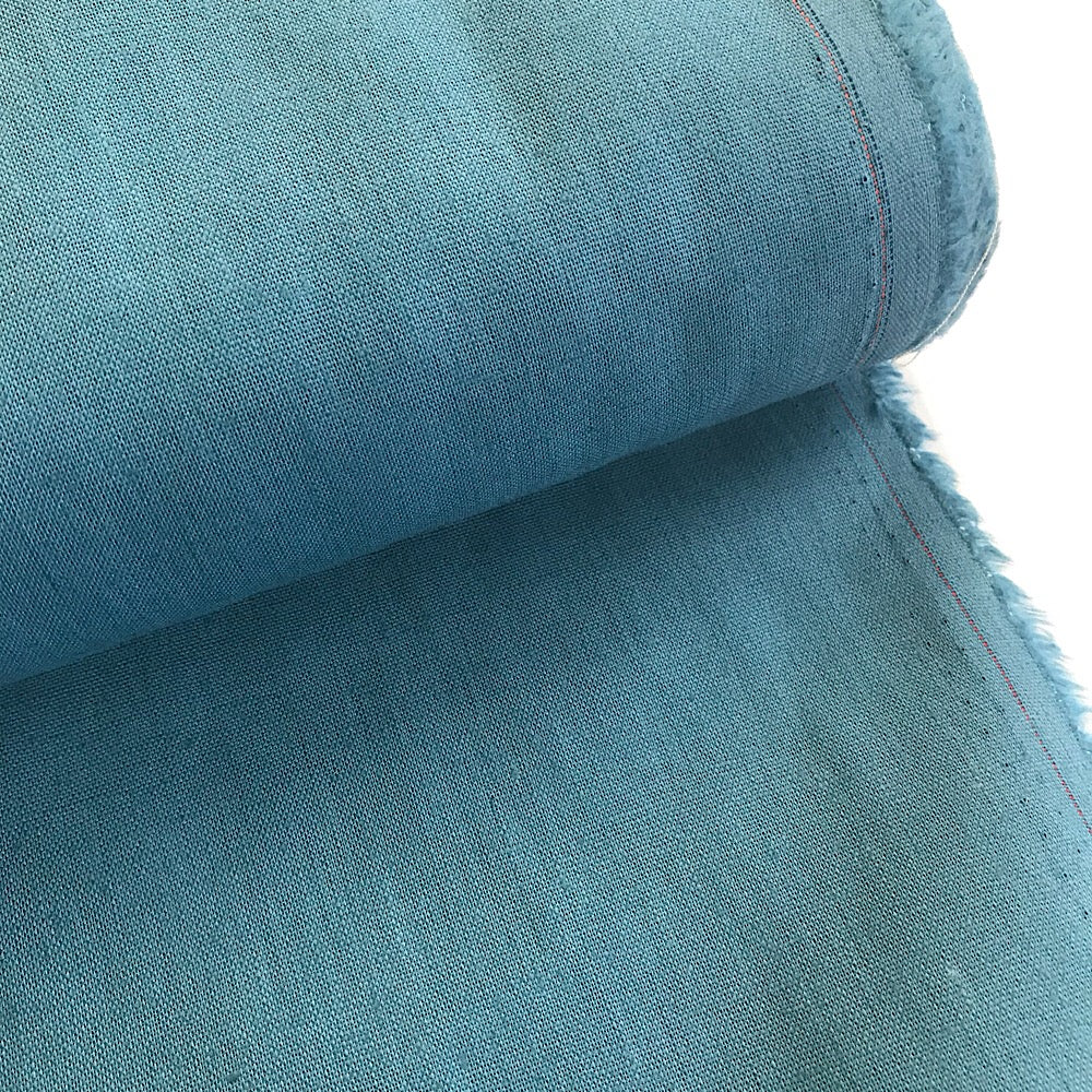 55% linen + 45% cotton, Essex woven by Robert Kaufman - Teal