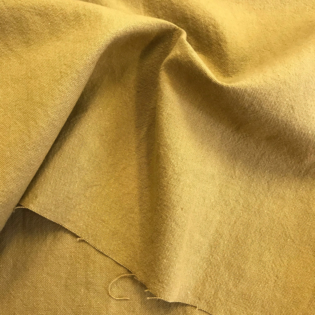 Japanese Utility Cloth - 85% cotton 15% linen - Baker (mustard)