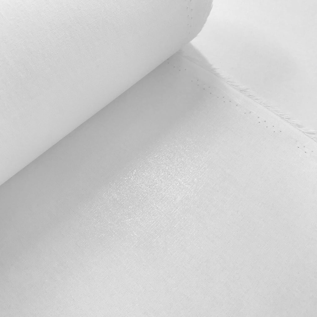 Heavy weight woven cotton fusible interfacing - White