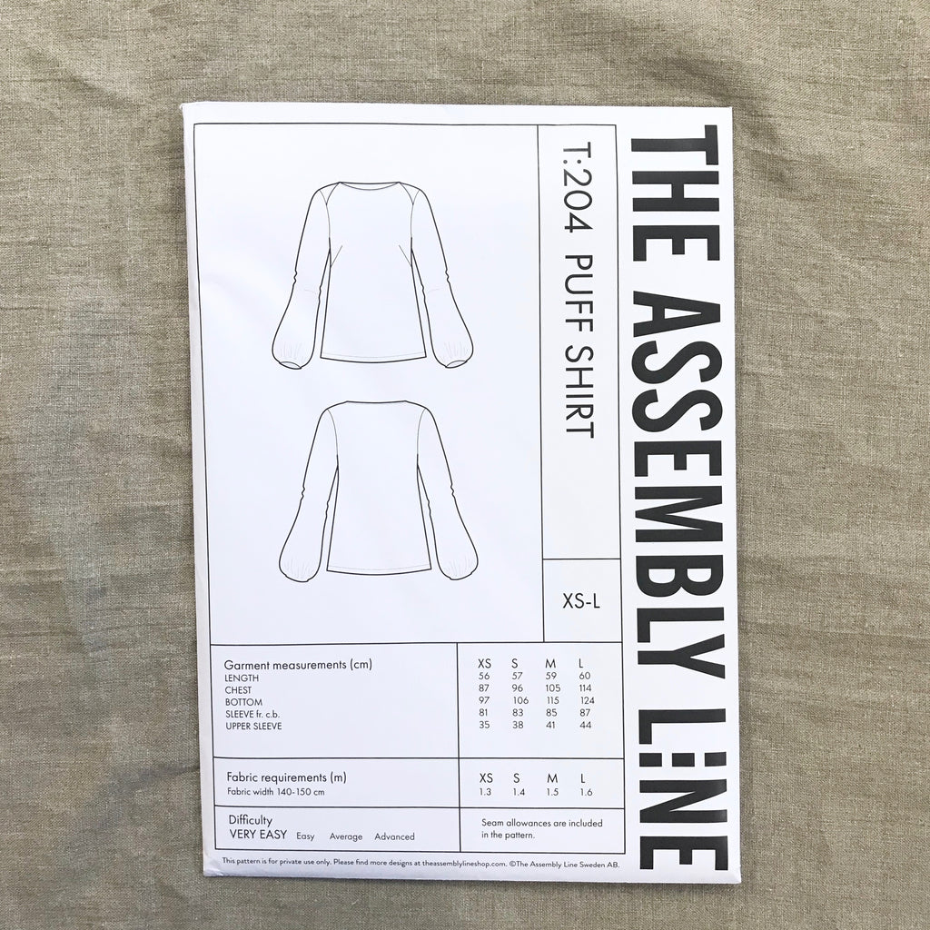 Puff Shirt pattern - The Assembly Line