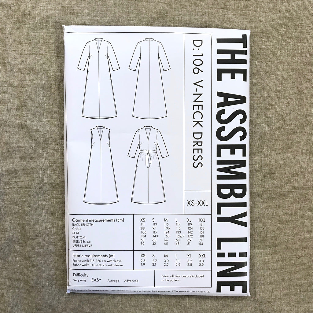 V-Neck Dress pattern - The Assembly Line