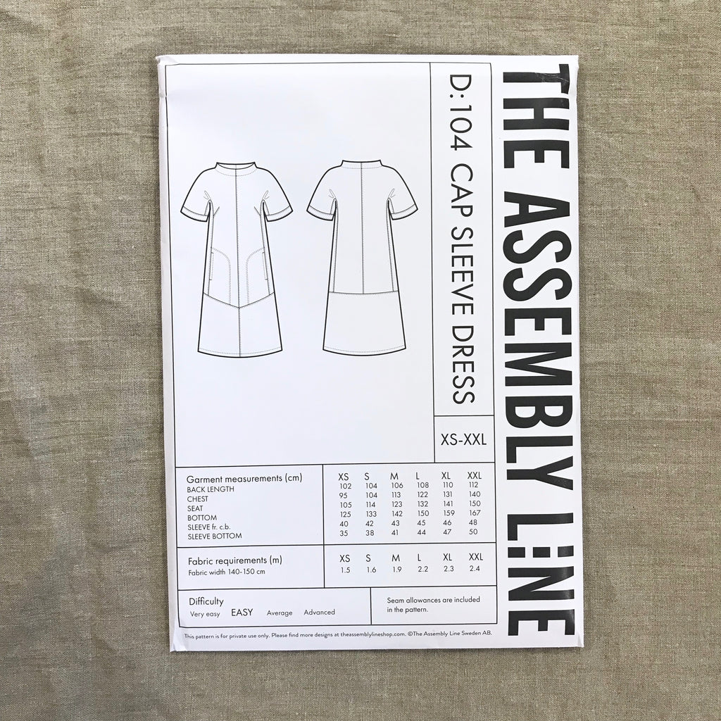 Cap Sleeve Dress pattern - The Assembly Line