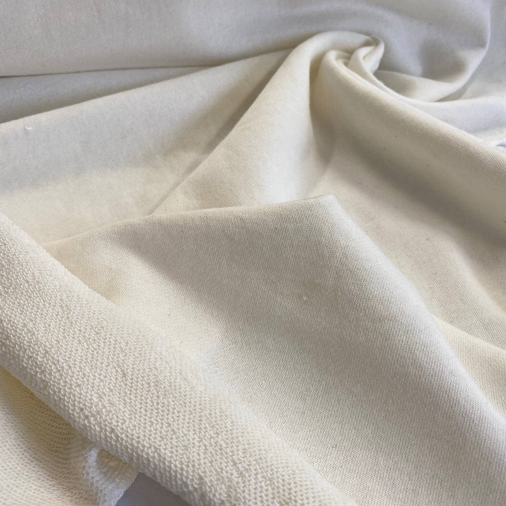 100% organic cotton French terry, Australian made - Natural (Cream)