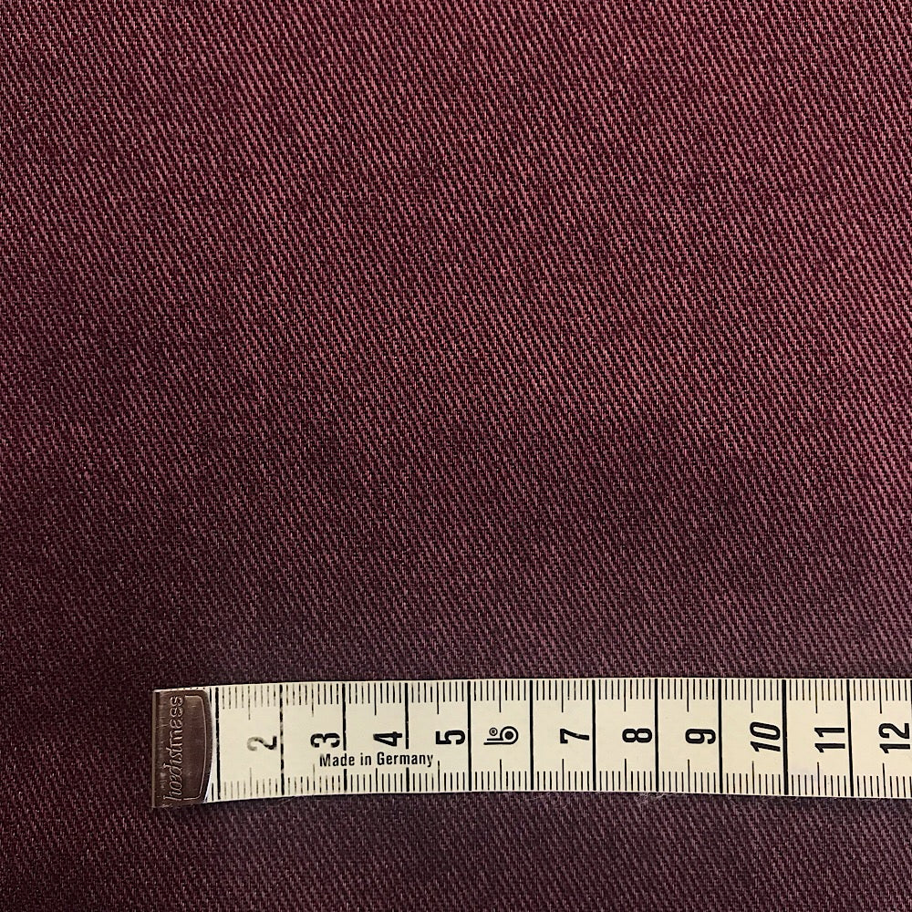 100% cotton Japanese Printed Twill/Denim - Garnet