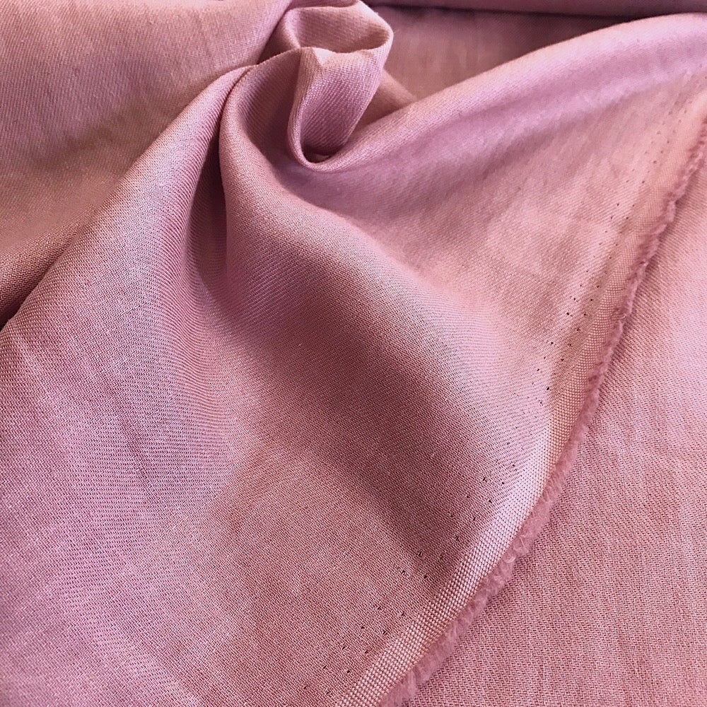 70% cotton 30% linen shirting-weight Japanese twill - Pink Lemonade