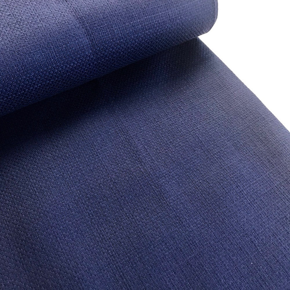 90% cotton 10% linen Japanese Basketweave mid-weight - Cobalt