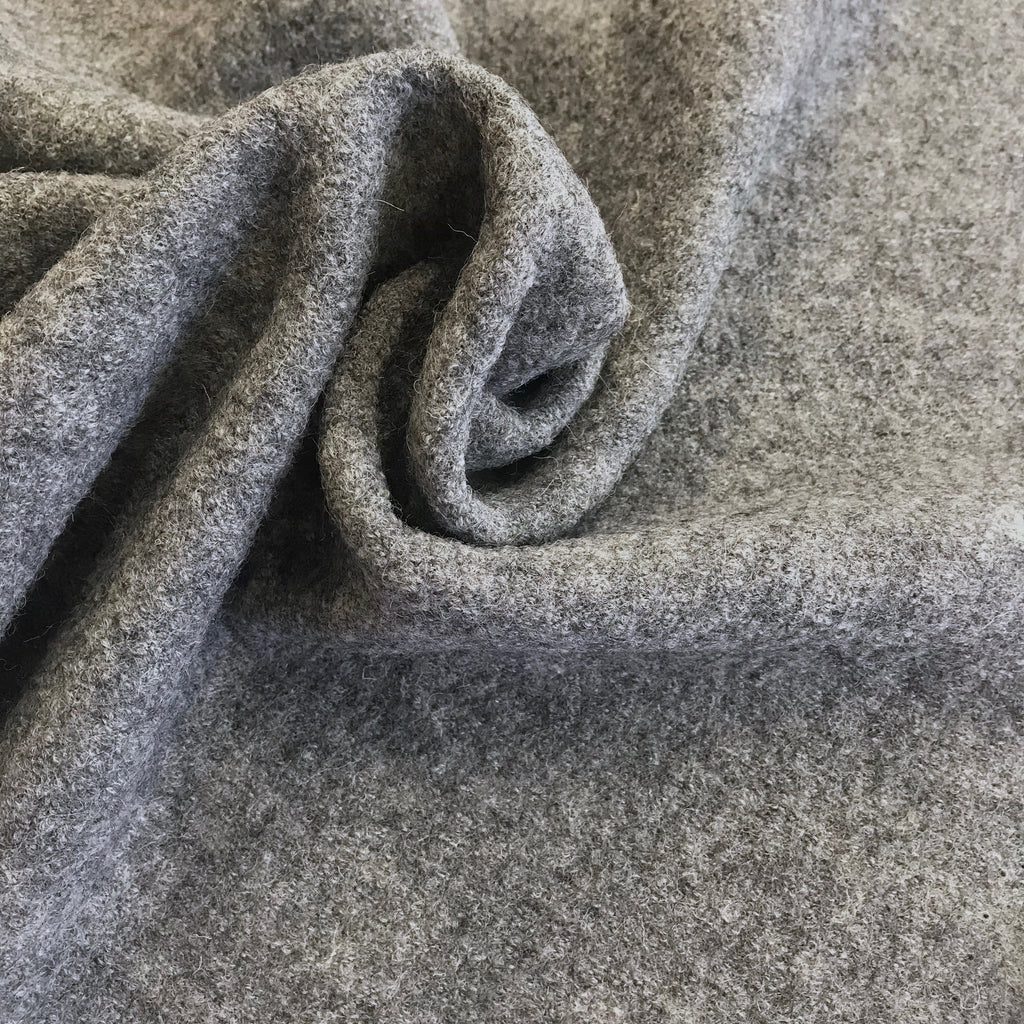 Boiled Wool - 100% wool, Silver (light grey marle)