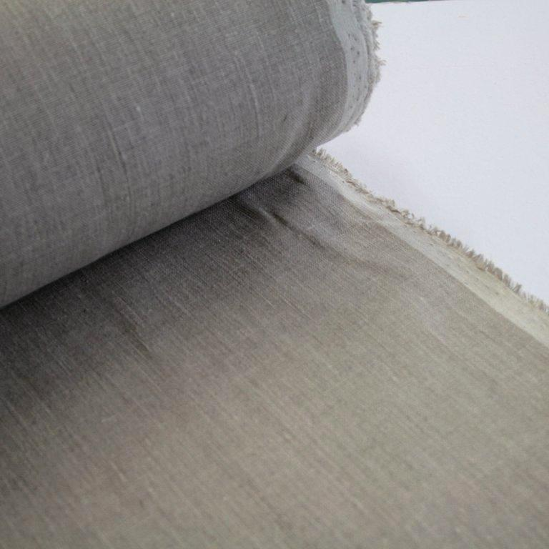 100% linen, mid-heavy weight, natural flax, 245gsm