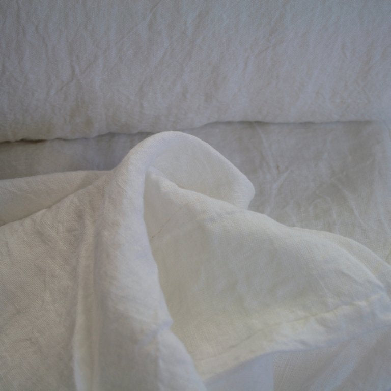 Extra Wide 100% linen, washed/softened, White