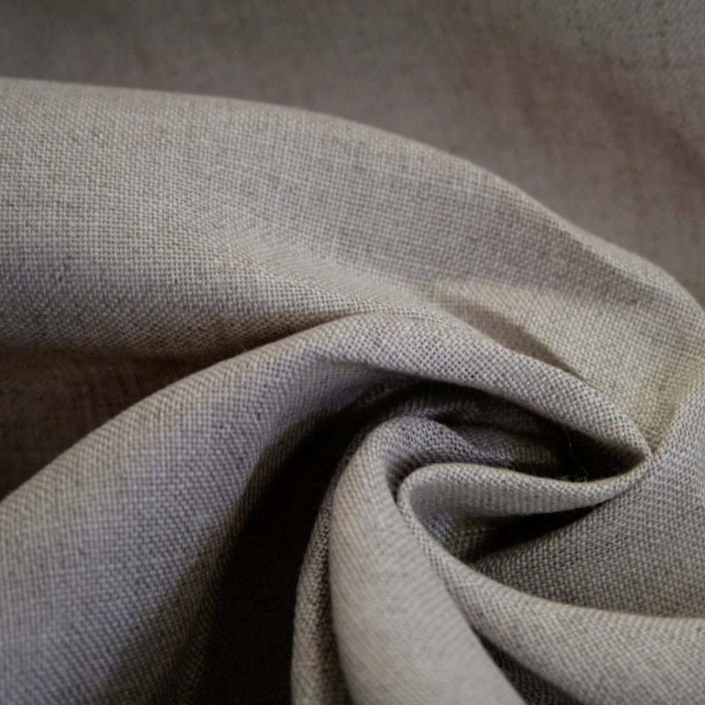 100% linen, natural/unbleached flax, light weight 160gsm