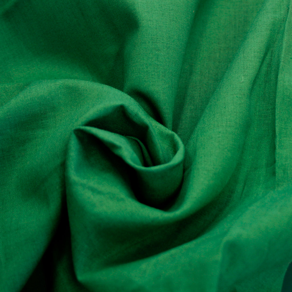 Japanese 50% linen 50% cotton shirting weight, Emerald