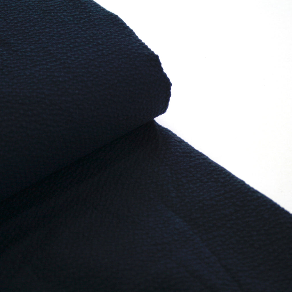 100% cotton Japanese Seersucker, yarn-dyed solid - Navy