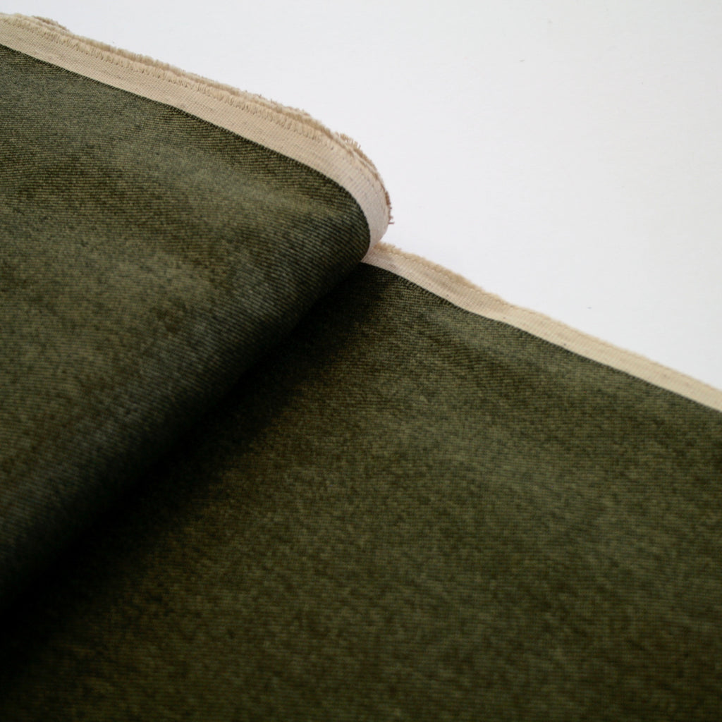 100% cotton Japanese Printed Twill/Denim - Spinach
