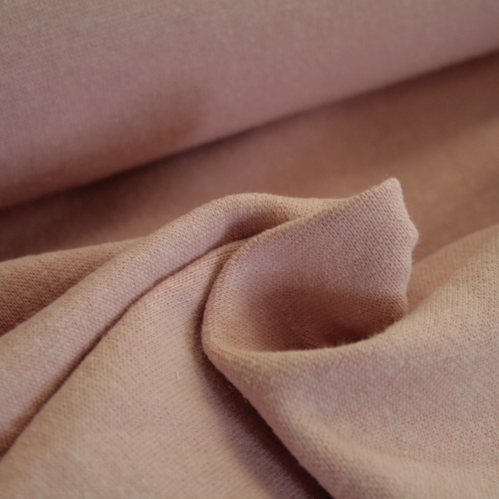 Hemp, Organic Cotton & Spandex Ribbing - Rose