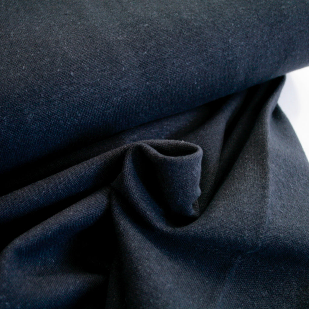 Hemp, Organic Cotton & Spandex Ribbing - Dusty Navy