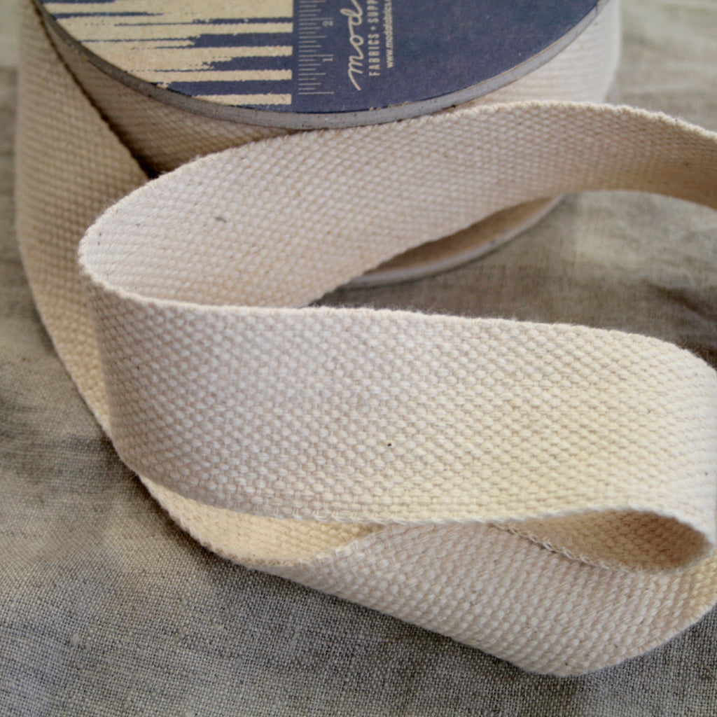 "100% cotton webbing Moda 'Boro Findings' 1.5"" (4cm), Natural, Mustard and Navy"
