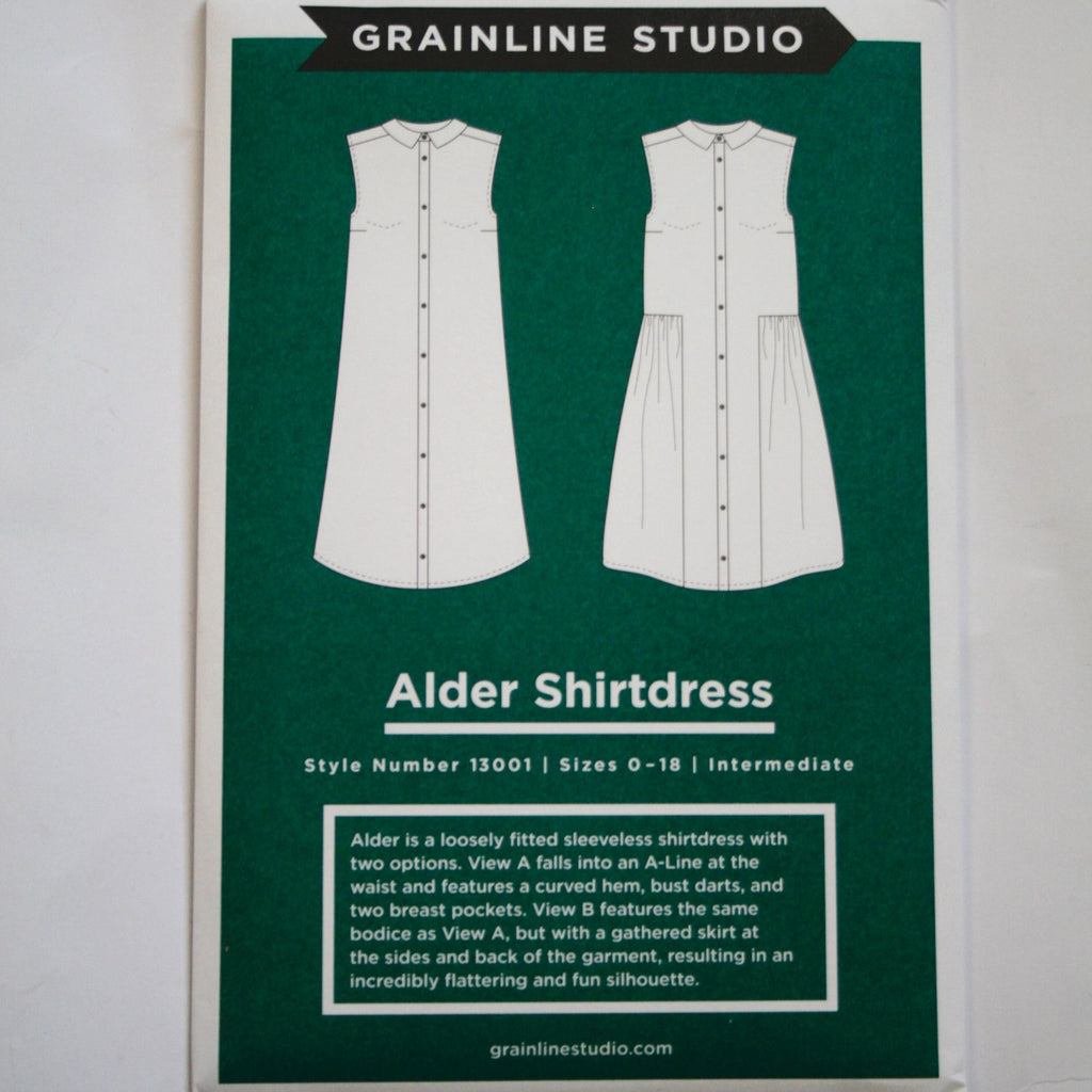 Grainline Alder Shirtdress pattern