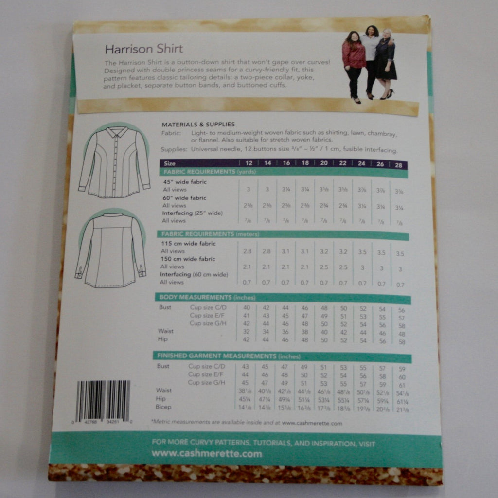 Cashmerette Patterns Harrison Shirt