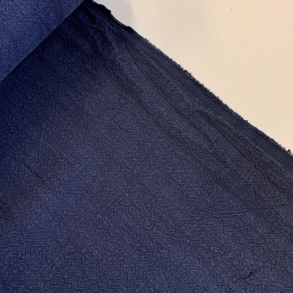 100% linen, slubby thread washed finish - Vintage Navy