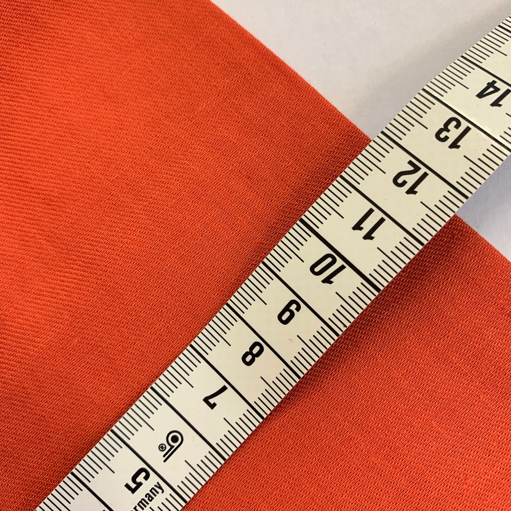 70% cotton 30% linen shirting-weight Japanese twill - Tangerine