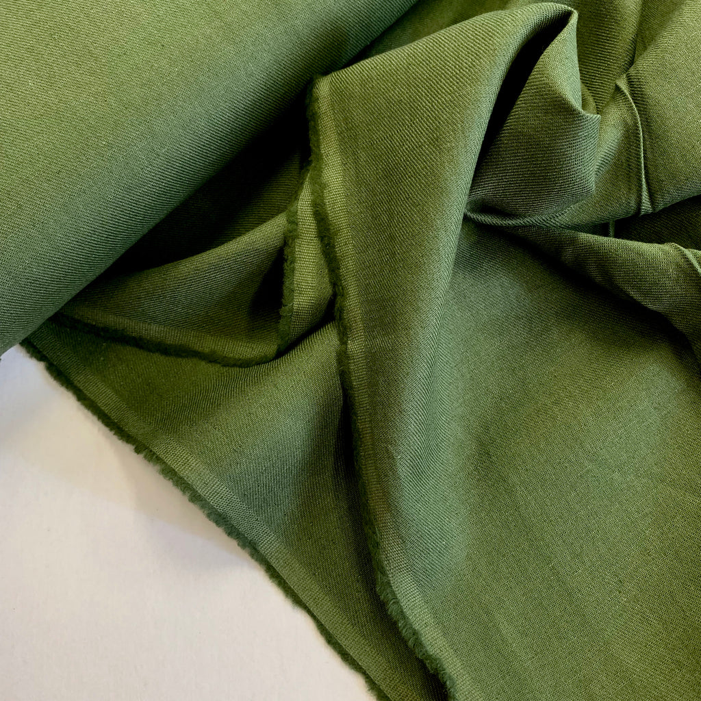 70% cotton 30% linen shirting-weight Japanese twill - Olive