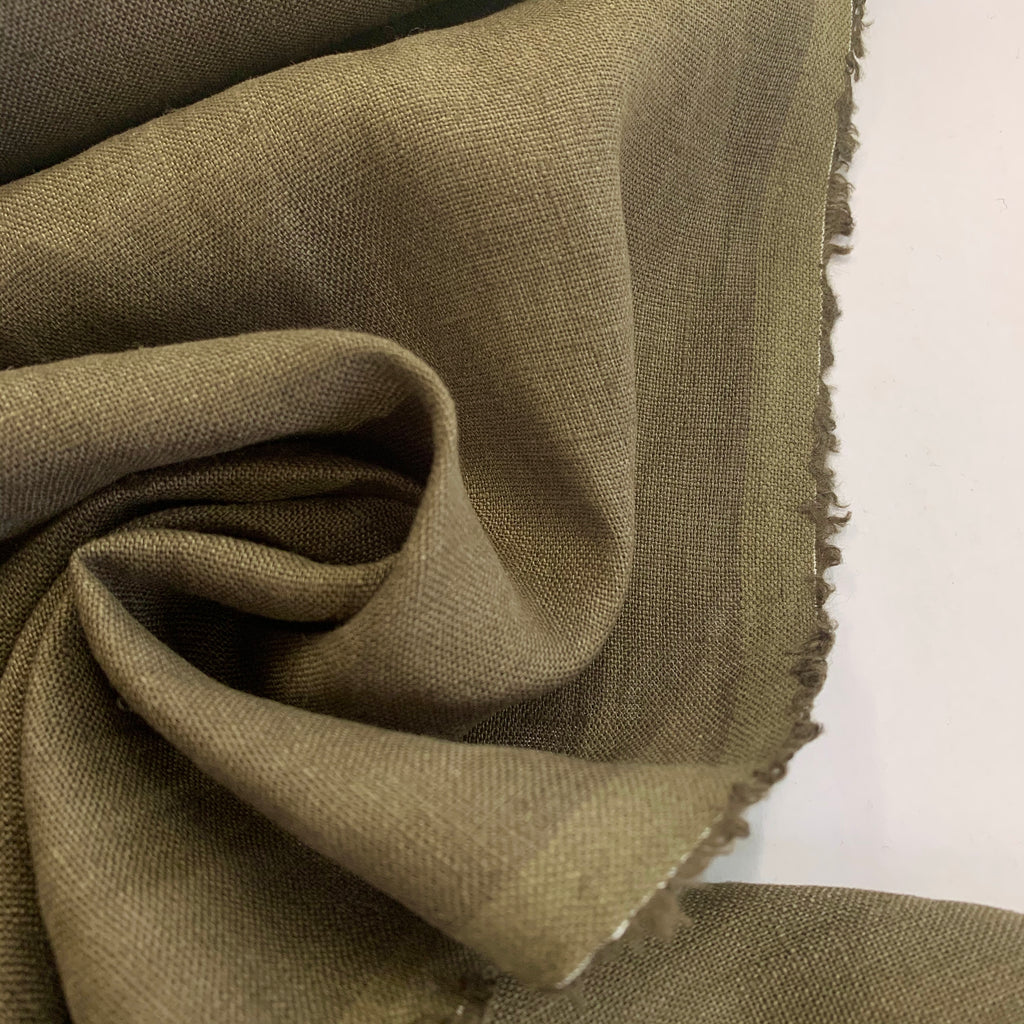 100% Linen, washed/softened - 'Tapenade'