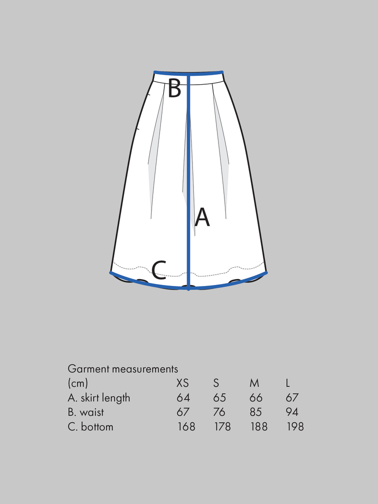 Three Pleat Skirt pattern - The Assembly Line