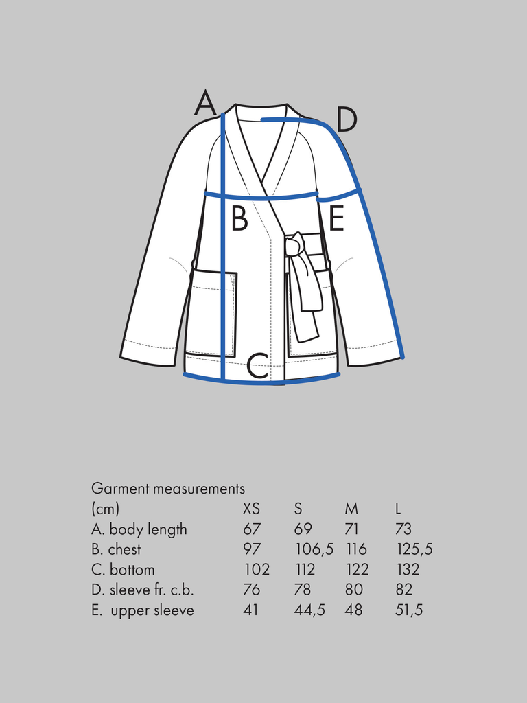 Kimono Jacket pattern - The Assembly Line