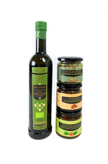 Tallarita Gift Box - Bell'Omio Olive Oil and 3 delicious pestos
