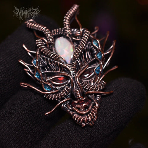 Copper Dragon Head pendant #1912291