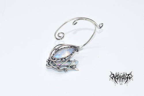 Single Silver Ear Cuff (For left ear) #1912162