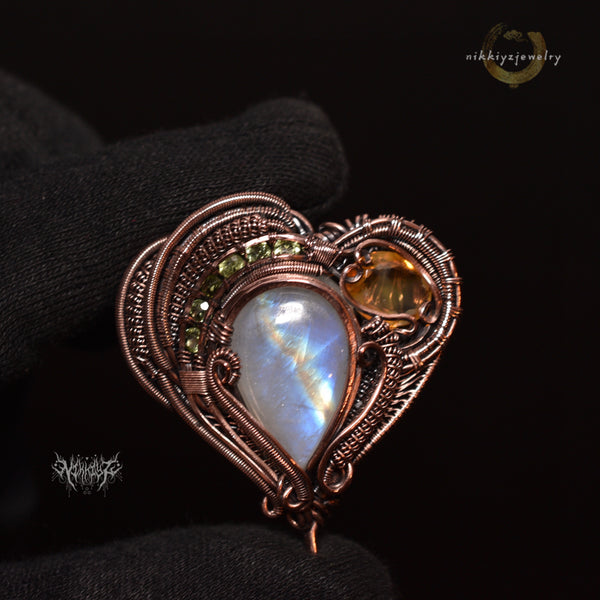 Heart Copper Pendant #210208