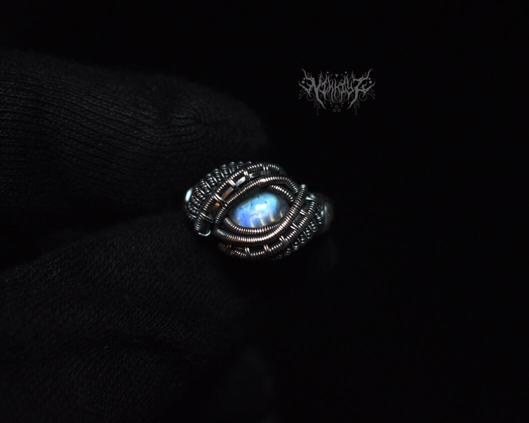 Moonstone silver ring  Size 6.5 #200508