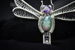 Dragonfly Silver Pendant #191115