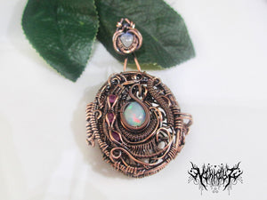 Copper Locket Pendant Reserved for Nikki