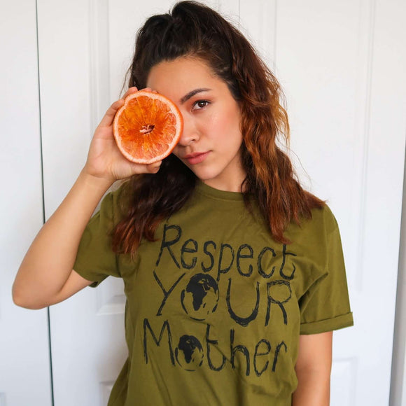 Respect Mother Earth Organic T- Shirt (Unisex) - Climate Neutral - One Planet Mind