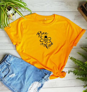 Bee Kind Organic T-Shirt - CLIMATE NEUTRAL - Unisex - One Planet Mind